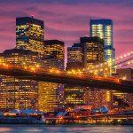 brooklyn bridge dusk